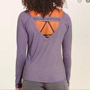 CALIA elastic back long sleeve shirt
